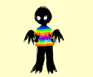 creepy shadow man who supports gays
