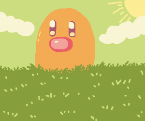 Huge Diglett rises above the hill
