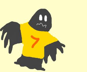 Ghoul wearing a T-Shirt