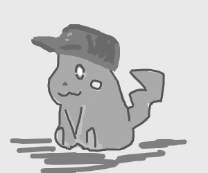 Pikachu with Ash's hat