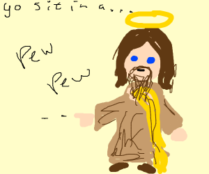 Jesus With Finger Guns