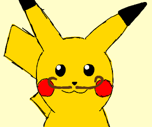 mustache pikachu