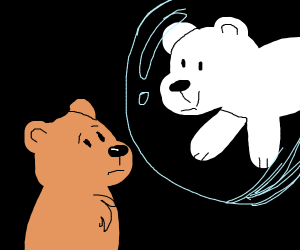 Two bears, one in a bubble
