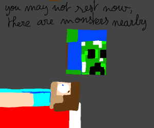 minecraft Steve is safe in his house