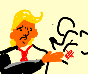 Trump slaps Mickey Mouse