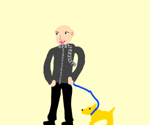 Gru but he looks like a normal person