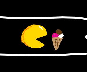 Pac Man Eats Ice Cream