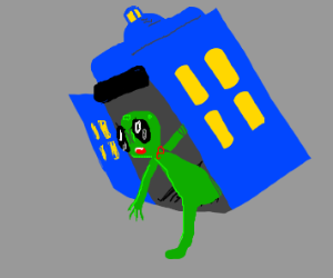Alien in tardis (dr who)