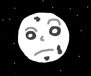 The real face of the moon