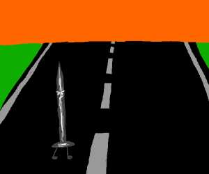 A Nail crossing the Highway