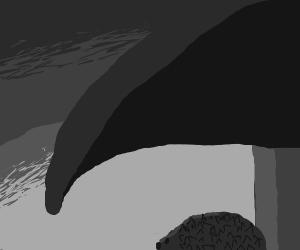 Swaurebkakc mushroom with a baby porcupine