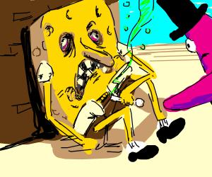 sponge bob is addicted to crack