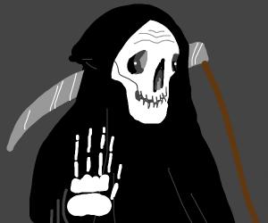 Grim Reaper tells you to stop