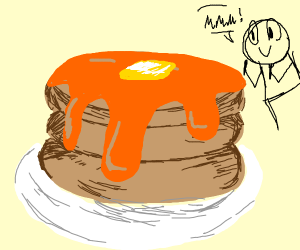 giant stack of pancakes