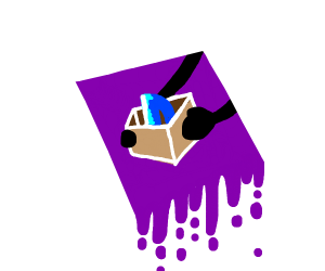 You got a package; oh no its drawception logo