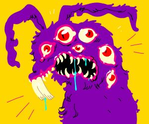 6-eyed purple rabbit demon