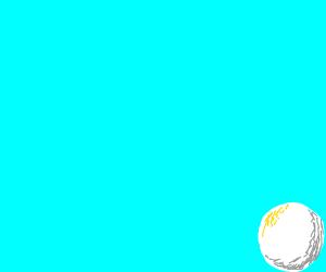 A white ball in the corner