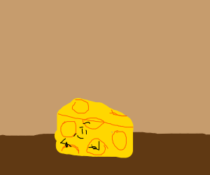 Swiss cheese that knows you want some of it