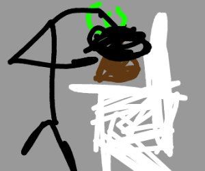 mad man eats poo