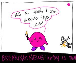 Kirby kills a news reporter