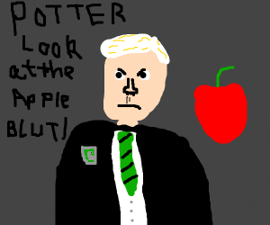 draco malfoy admires apple