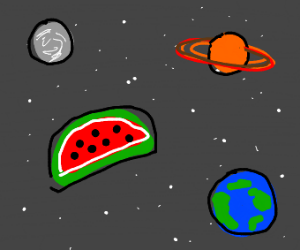 Watermelon in Space