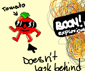 bad tomatos dont look at explosions