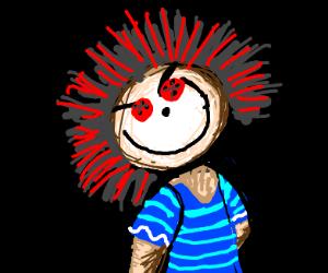 A Beautifully Drawn Rag-doll Demon