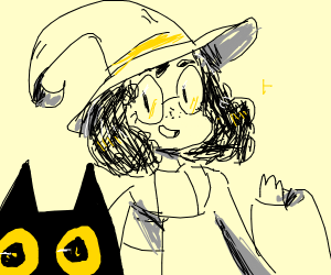 Witch wearing a Hat