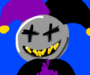 grey jester man guy dude