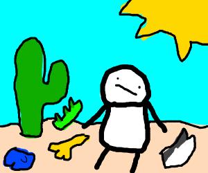 Man in Desert w/ Different Animal Body Parts