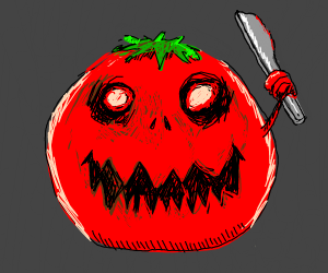 Killer tomato with a dull knife