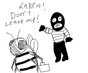 karen he bee breaks up with the robber dave