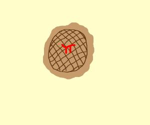 Pi on pie, for pi day