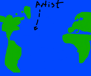 Artist crossing the Ocean