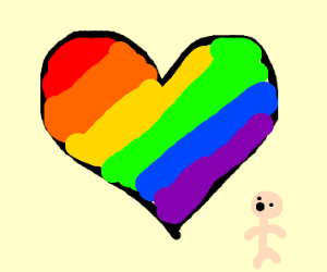 Pride month themed heart is giant