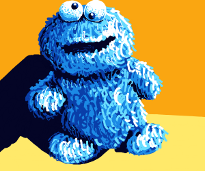 Baby Cookie Monster. DAAAANG ART!