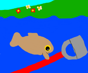 fish finds a (gardening) hoe