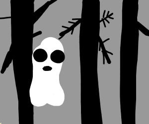 Ghost roaming forest