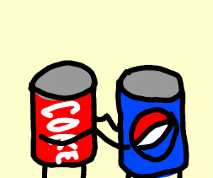 Pepsi and Coke cans dancing