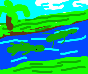 Croc-Infested River