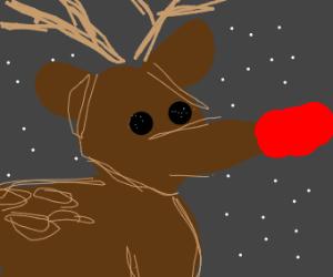 Rudolph's nose e x t e n d s