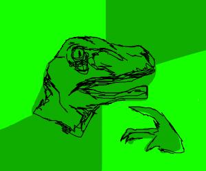 confused dinosaur meme
