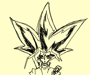 gigantic haired yugioh character