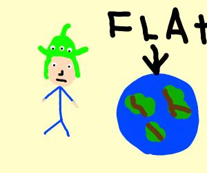 Logan Paul spreads flat earth theory