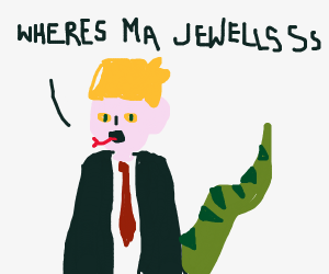 Reptilian Draco Malfoy lost his jewellery