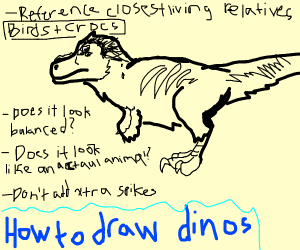 Dinosaur drawing guide