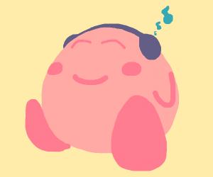 Kirby with headphones