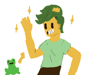 Step 4: the frog becomes a prince