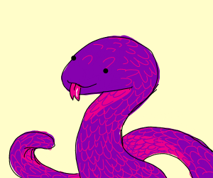 Purple snek does a blem